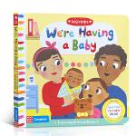 英文原版进口绘本 The Big Steps We're Having a Baby 我们的宝宝 情商教育儿童启蒙纸板
