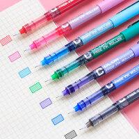 白雪直液式走珠笔针管式彩色中性笔一套水笔糖果色直流式手账专用记做笔记的手帐红笔多颜色学生用滚珠可爱