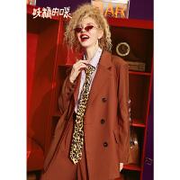 【低至1折起】妖精的口袋 雪恋香芋紫 冬季复古休闲西装
