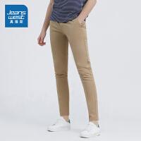 [5折秒杀价:95.9元,仅限12.4-5]真维斯男装2019夏装新款舒适纯色韩版休闲时尚长裤