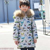 冬季儿童羽绒服男童中长款加厚男孩2018新款童装中大童外套秋冬新款