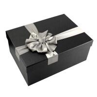 大号礼品盒韩版长方形礼物盒 羽绒衣服包装盒 商务简约红黑色礼盒