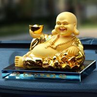 摇头汽车摆件佛弥勒佛像创意车内装饰品用品