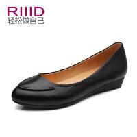 RIIID夏季尖头平跟单鞋 纯色休闲浅口通勤
