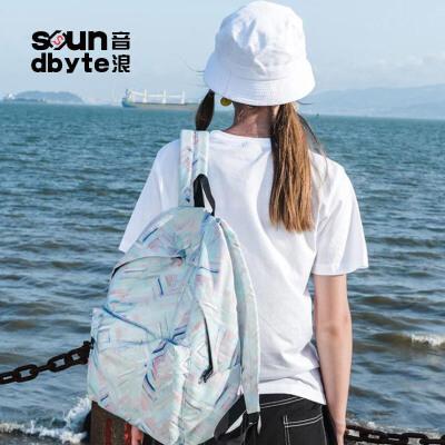 【支持礼品卡支付】soundbyte潮包双肩包女韩版学院风学生书包休闲电脑背包