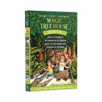 【顺丰包邮】英文原版 神奇树屋5-8册盒装 Magic Tree House 美国中小学推荐课外阅读读物1-4续 巩固