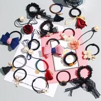 【仅限一天】韩国饰品发饰发圈成人头绳扎头发橡皮筋发绳头饰发带皮套发夹发卡.