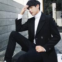 冬季毛呢大衣男短款青年妮子外套双排扣英伦韩版帅气学生呢料风衣