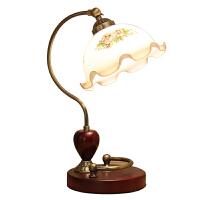 欧式温馨卧室台灯复古创意床头灯装饰婚庆调光台灯带时钟灯具惊喜的礼物节日礼品圣诞礼物 其他
