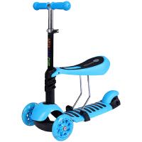 四合一三合一轮三轮滑板车可坐滑滑摇摆2岁3岁46岁婴儿的宝宝小孩儿童闪光滑板车