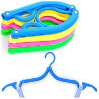 可折叠衣架旅行衣架 便携彩色旅游出差简易衣架