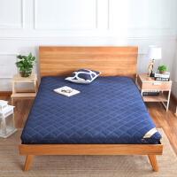 厚床垫1.5m床1.8m加厚折叠海绵垫被榻榻米软床褥子懒人地铺睡垫 蓝 色