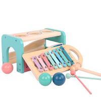 宝宝男女孩木制1-3岁玩具多球敲琴台 婴幼儿童小木琴