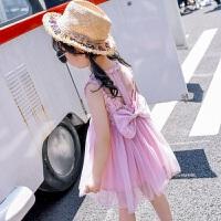 童装女童公主裙2018夏装新款时尚儿童无袖纱裙蓬蓬裙宝宝的连衣裙