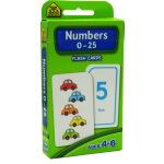 【数字0-25】School Zone Flash Cards Numbers 0-25 英文原版 儿童早教入学准备