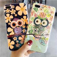猫头鹰蓝光苹果x手机壳7p新品女款iphone8plus硅胶全包6s防摔软套