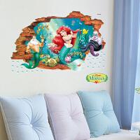 墙贴纸儿童房女孩卧室床头装饰人物墙贴可移除