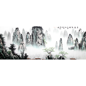 陈贞瑞《山水11》著名画家