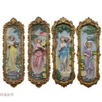 欧式壁挂壁饰墙饰时尚人物立体手绘浮雕画玄关挂饰过道墙壁装饰品