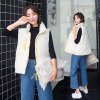 棉衣马甲女士外套冬季新款韩版时尚加厚学院风羽绒棉面包服短款休闲外套