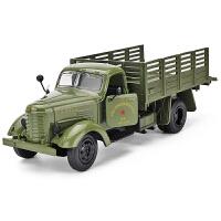 声光儿童玩具车部队运输车模型仿真老式复古军用卡车合金车模