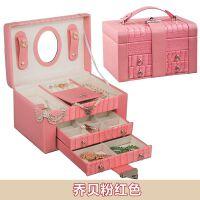 首饰盒 公主欧式化妆盒梳妆盒大号首饰盒收纳盒子 结婚生日礼物 装饰品结婚礼物