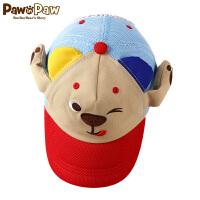 【1件3折 到手价:89】Pawinpaw卡通小熊童装夏季儿童男童鸭舌帽子