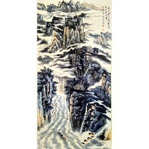 陆俨少《峡江》著名画家