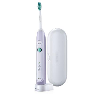 飞利浦电动牙刷HX6721 成人充电式智能自动美白 声波震动牙刷31000次震动 3大洁牙模式 带旅行盒