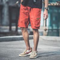 街头嘻哈潮流宽松短裤男夏天ins超火港风口袋潮牌工装裤子