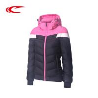 赛琪运动棉衣2017冬季新款女子保暖抗寒连帽棉服加厚夹克棉袄外套