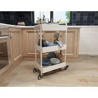 厨房置物架落地可移动家居用品收纳架小推车夹缝蔬菜储物架