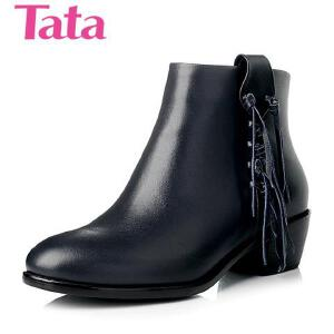 Tata/他她 年牛皮中跟女靴2BF38CD5
