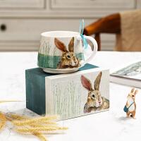 Evergreen爱屋格林咖啡杯套装陶瓷办公室用马克杯创意卡通家用水杯礼盒装 卡通可爱萌宠