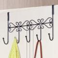 索尔诺 时尚简易铁艺门收纳后挂钩衣架多功能无痕挂钩架单支装门后挂1501
