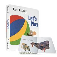【全店300减100】英文原版 正版进口绘本Let's Play 我们一起玩吧 凯迪克奖Leo Lionni里欧.里奥尼