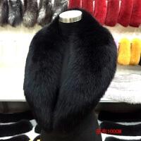 整皮真狐狸毛领子真毛青果领围巾披肩保暖皮草毛领子女季