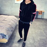 学生春秋季新款男士休闲运动套装潮流韩版修身外套青少年卫衣男装