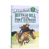 英文原版 Buffalo Bill and the Pony Express 汪培�E第四阶段读物