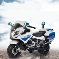 新款儿童电动摩托车BM儿童电动警车可坐宝宝摩托车炫酷三轮电动车四轮玩具车充电电瓶车男女宝宝