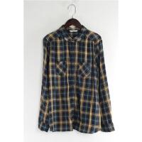 G1017春新款韩版简约单排纽扣宽松显瘦好搭配女长袖衬衫大码
