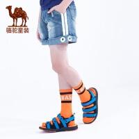 骆驼童鞋户外机能凉鞋男女童魔术贴露趾夏季新款软底运动沙滩鞋子