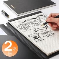 B5文具笔记本子网格本A4记事方格纸空白白纸本