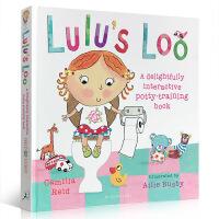 英文原版绘本 Lulu's Loo 精装 翻翻书触摸书 露露上厕所读本 如厕训练 lulu系列 幼儿启蒙操作书