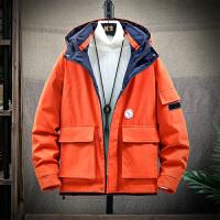棉衣外套冬季潮流中长棉袄加肥加大码工装加厚大衣羽绒棉服男