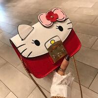 kuansen[2019秋季新款]卡通链条涂鸦包包2019新款kt猫咪小包女可爱凯蒂猫单肩斜挎小方包