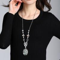 欧美气质项链女短款装饰毛衣链百搭新款锁骨链