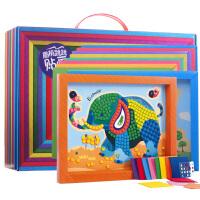 儿童手工制作材料包diy玩具幼儿园益智5-6岁女孩贴画儿童创意套装