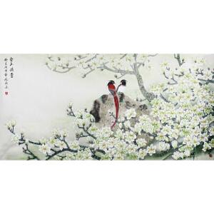 山东省美术家协会会员 凤秋 《金玉满堂》178*89cm