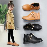 女童公主鞋2018新款韩版短靴英伦风秋冬加绒儿童皮鞋小女孩马丁靴休闲鞋